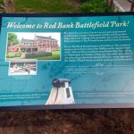 Example of the old (1998) and new (2015) signage at Red Bank Battlefield Park. Photographs by Jennifer Janofsky.