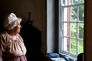 Jackie Zane has been a volunteer at the Whitall House for the more than twenty-five years. Photograph by Chase Heilman, 2012; courtesy The Crossroads of the American Revolution.